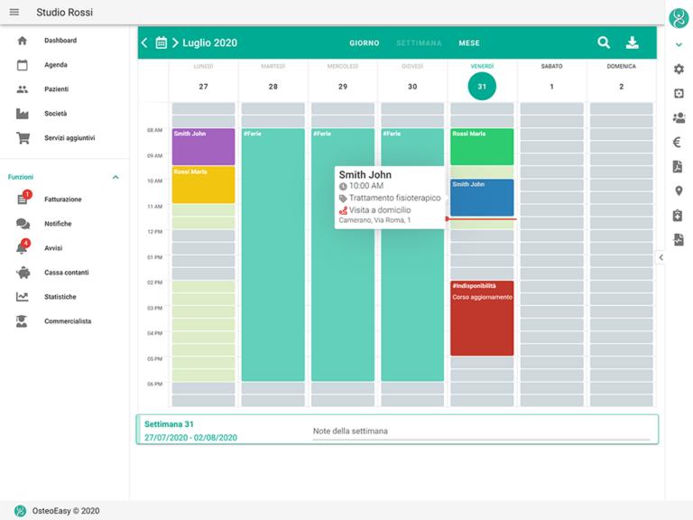 agenda con colori personalizzabili e visita a domicilio