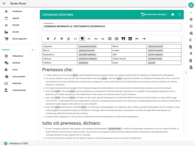 modulistica personalizzabile consenso informato e privacy