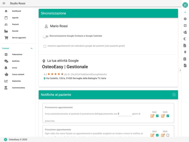 sincronizzazione google calendar e contacts
